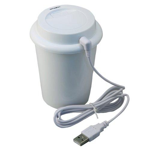 【新品】 ヤザワ USB加湿器 タンク容量280ml USBケーブル・吸水綿2本付き TVR24WH