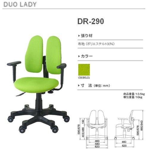 【新品】 DUOREST(デュオレスト) DRシリーズ チェア グリーン DR-290(3NLG1)