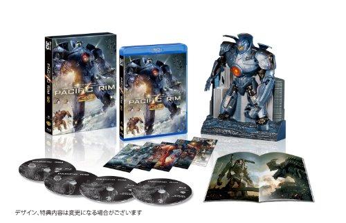 【新品】 パシフィック・リム イェーガー プレミアムBOX 3D付き (4枚組)(10000BOX限定生産) [Blu-ray]