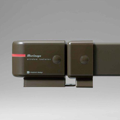 【新品】 森永ウィンドーラジエーター window radiator 伸縮タイプ 120~190cm [W/R-1219] オリーブブラウン 窓下専用ヒーター