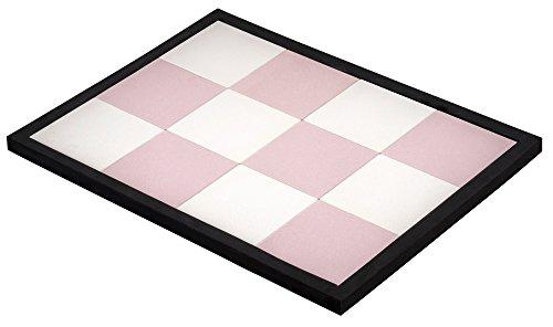 【新品】 見谷陶器 吸水性と蒸散性に優れた バスマット ホワイト・ピンク