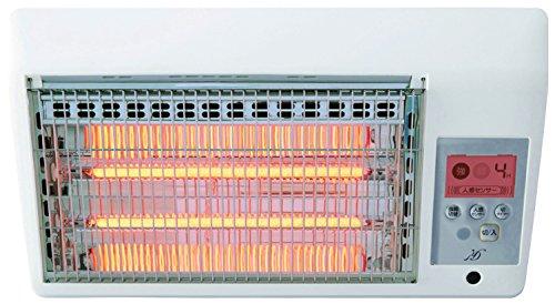 【新品】 ZEPEAL 【工事不要】 壁掛け脱衣所カーボンヒーター(人感センサー搭載) リモコン付き ホワイト DDH-A805-WH