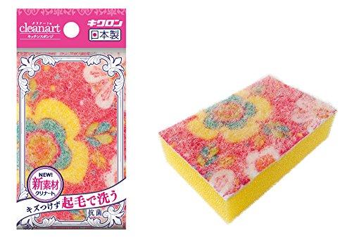 【新品】 キクロン クリナートキッチンスポンジ フラワー ピンク