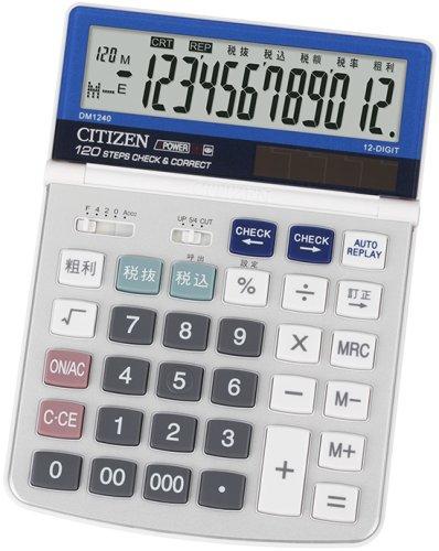 【新品】 シチズン デスクトップ型電卓(12桁表示) DM1240