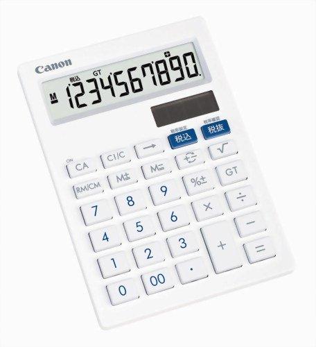 【新品】 キヤノン 10桁ミニ卓上電卓 LS-101T 抗菌仕様 フラットデザイン