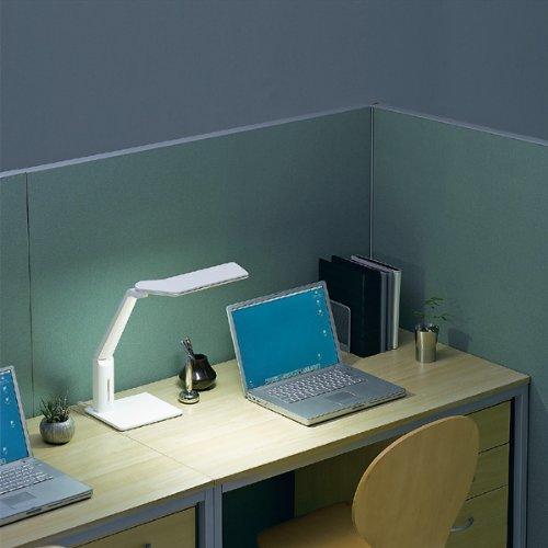 【新品】 TWINBIRD 5段階調光機能付き LEDデスクライト ホワイト LE-H615W