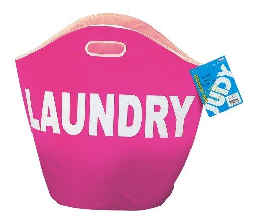 【新品】 パール金属 ランドリー バッグ 洗濯物 入れ ピンク ジュディ H-3537