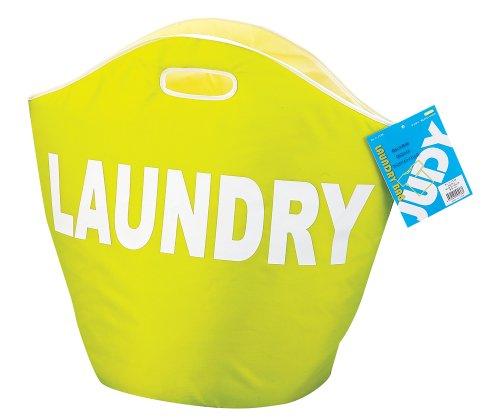 【新品】 パール金属 ランドリー バッグ 洗濯物 入れ グリーン ジュディ H-3538