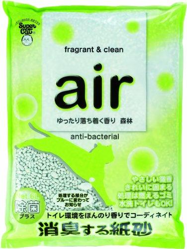 【新品】 スーパーキャット air消臭する猫砂森林 6L