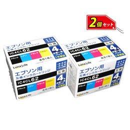 【新品】 【Luna Life】 エプソン用 互換インクカートリッジ IC4CL62 4本パック×2  LN EP62/4P*2PCS