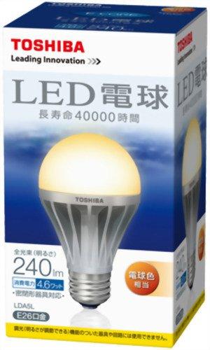 【新品】 TOSHIBA LED電球 一般電球形4.6W(電球色相当) LDA5L