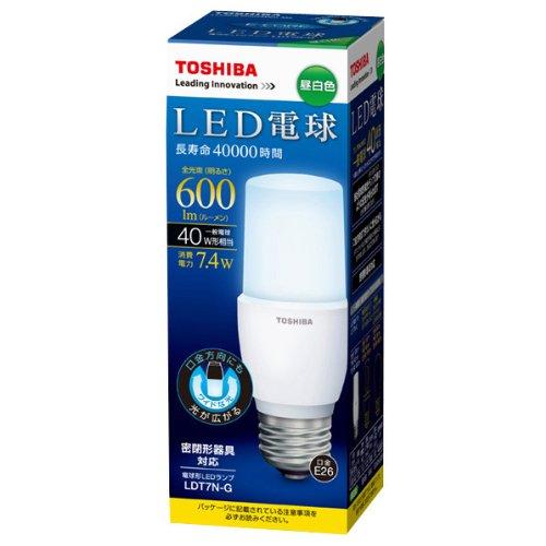 人気大割引 【新品】 東芝 E-CORE(イー・コア) LED電球 T形 7.4W (E26口金・白熱電球40W相当・600ルーメン・昼白色) LDT7N-G, mitashop e90524d1