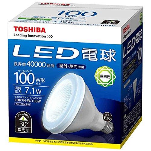 2018新入荷 【新品】 東芝ライテック LED電球 ビームランプ形 昼白色 100W LDR7N-W/100W, 京都帆布バッグ専門店 creareきき 4fc465ed