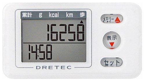 【新品】 DRETEC(ドリテック) 歩数計 エブリウォーカー ホワイト H-225WT