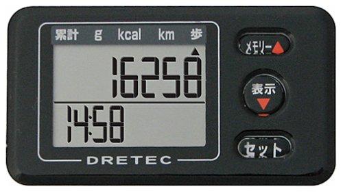 【新品】 DRETEC(ドリテック) 歩数計 エブリウォーカー ブラック H-225BK