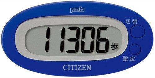 【新品】 シチズン(CITIZEN) デジタル歩数計 peb ブルー TW310-BL