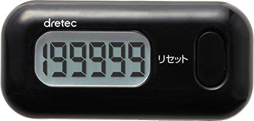 【新品】 DRETEC(ドリテック) 歩数計 キシリウォーカーミニ 3Dセンサー ブラック H-234BK