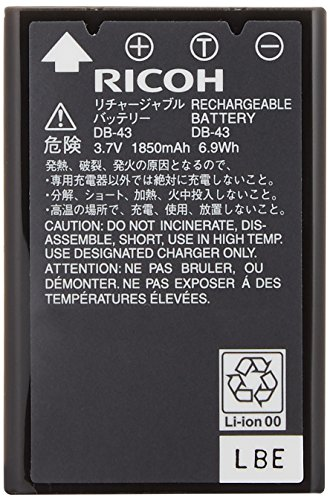 【新品】 RICOH リチャージャブルバッテリー DB-43 172340