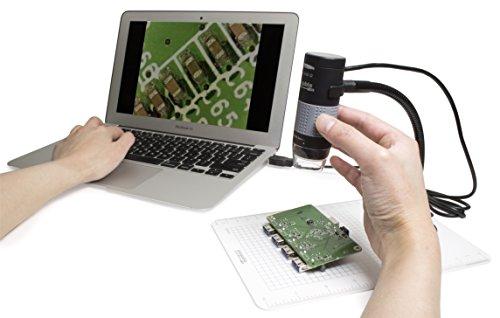 【新品】 Plugable USB 2.0 デジタル・マイクロスコープ(200万画素 最大250倍ズーム)- 取り外し可能観察プレート付、Windows、Mac OS X、Linux で使用可