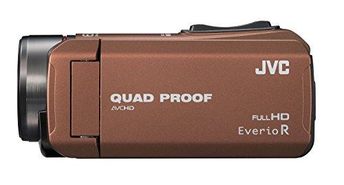 【新品】 JVC ビデオカメラ Everio R 防水5m 防塵仕様 耐低温 耐衝撃 内蔵メモリー32GB ライトブラウン GZ-R400-T