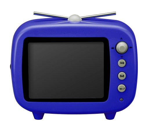 【新品】 GREEN HOUSE 3.5インチ テレビ型デジタルフォトフレーム ブルー GHV-DF35TVB