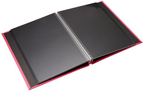 【新品】 SEKISEI アルバム フリー ハーパーハウス A4フリーアルバム 黒台紙 20ページ ローズ 11~20ページ 布 ピンク XP-2501