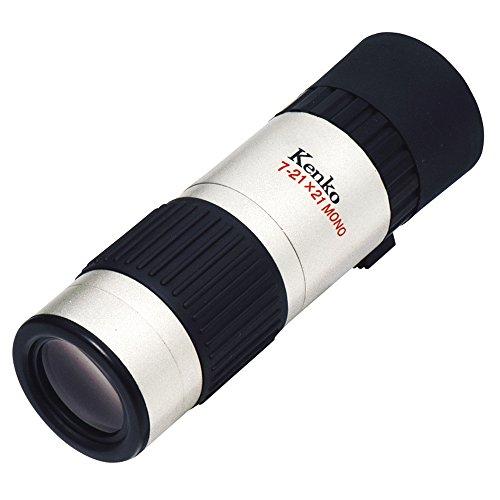 【新品】 Kenko 単眼鏡 7-21X21-S 7~21倍 ズームタイプ 21口径 レンズクロス付属 シルバー K01M