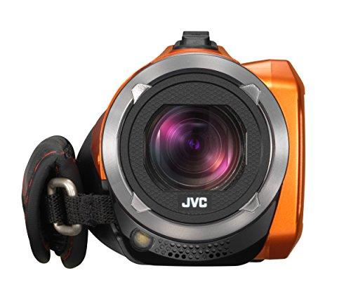 【新品】 JVC KENWOOD JVC ビデオカメラ EVERIO 防水 防塵 内蔵メモリー32GB オレンジ GZ-R300-D