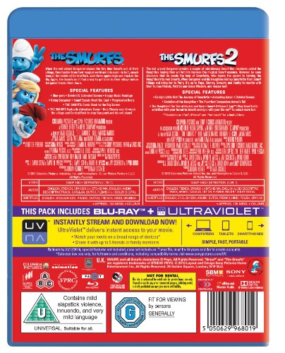 【新品】 Smurfs/Smurfs 2 [Blu-ray] [Import]