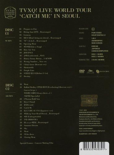【新品】 TVXQ! The 4th World Tour 'Catch Me In Seoul' (2DVD + スペシャルカラーフォトカード) (韓国盤)