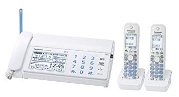 中古 パナソニック おたっくす デジタルコードレスFAX 定番キャンバス KX-PD702DW-W 子機2台付き 限定Special Price ホワイト