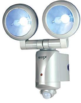 【中古】ムサシ RITEX 3W×2 LEDセンサーライト 「乾電池式」 防雨タイプ LED-260
