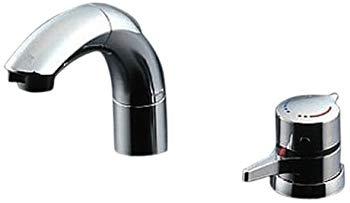【中古】TOTO 洗面用水栓 サーモスタット混合水栓 寒冷地向け TLNW46Z (シャンプー水栓・ホース付き)