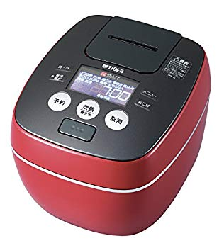 【中古】タイガー 炊飯器 圧力IH 「炊きたて」 5.5合 ラスターレッド JPB-G100-RL
