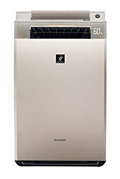 【中古】シャープ 加湿空気清浄機 プラズマクラスター25000搭載 プレミアムモデル ~24畳 ゴールド系 KI-EX100-N
