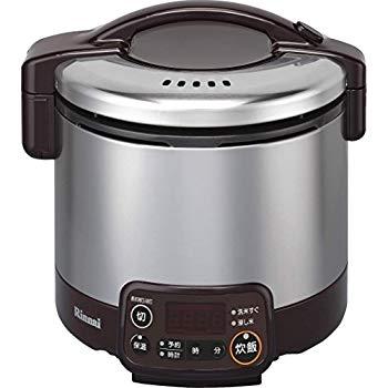 【中古】リンナイ こがまる タイマー・ジャー付きガス炊飯器 3合炊き・ダークブラウン・プロパンガスLPG用 RR-030VMT(DB) LP