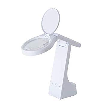 【中古】ツインバード 充電式LEDルーペライト ホワイト LE-H319W