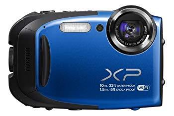 【中古】FUJIFILM デジタルカメラ XP70BL ブルー F FX-XP70 BL