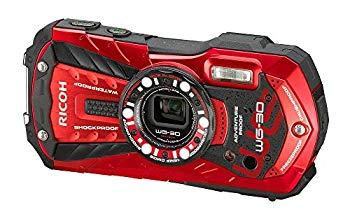 【中古】RICOH 防水デジタルカメラ RICOH WG-30 バーミリオンレッド 防水12m耐ショック1.5m耐寒-10度 RICOH WG-30 RD 04606