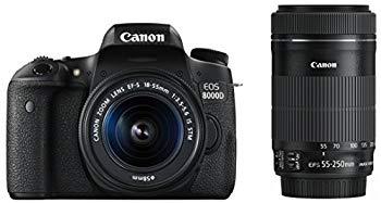 【中古】Canon デジタル一眼レフカメラ EOS 8000D ダブルズームキット EF-S18-55mm/EF-S55-250mm 付属 EOS8000D-WKIT