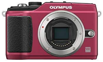 【中古】OLYMPUS ミラーレス一眼 PEN E-PL2 ボディ レッド E-PL2 BODY RED