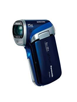 【中古】パナソニック デジタルムービーカメラ WA2 防水仕様 ディープブルー HX-WA2-A