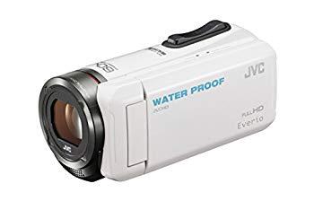 【中古】JVC KENWOOD JVC ビデオカメラ EVERIO 防水 防塵 内蔵メモリー32GB ホワイト GZ-R300-W