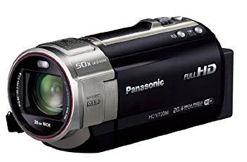 【中古】パナソニック デジタルハイビジョンビデオカメラ V720 内蔵メモリー64GB ブラック HC-V720M-K