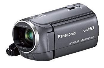 【中古】パナソニック デジタルハイビジョンビデオカメラ V210 内蔵メモリー8GB グレー HC-V210M-H