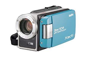 【中古】SANYO 防水デジタルムービーカメラ 水のXacti (ザクティ) DMX-WH1E(L)