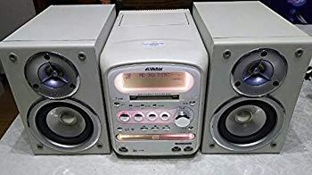 【中古】Victor ビクター JVC UX-QX1-W パールホワイト マイクロコンポーネントMDシステム (CD/MD/カセットコンポ)(本体CA-UXQX1-WとスピーカーSP