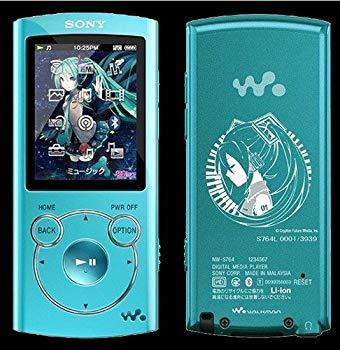 """【中古】SONY """"ウォークマン""""Sシリーズ 初音ミク生誕5周年記念モデル NW-S764 ブルー"""