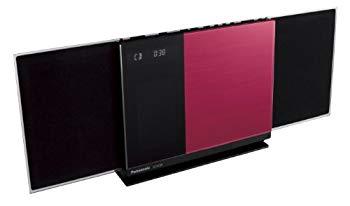 【中古】Panasonic コンパクトステレオシステム Bluetooth対応 レッド SC-HC38-R