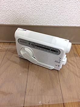 【中古】SONY 防災用 手回し充電 FM/AMポータブルラジオ ホワイト ICF-B02(W)